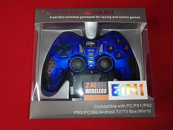 Проводной джойстик Gamepad 6 в 1  (Синий)