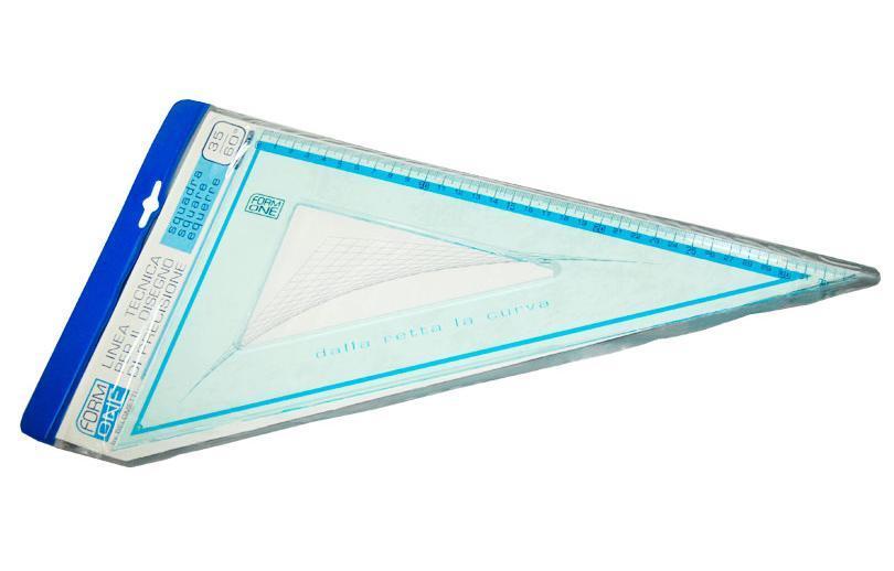 Треугольник пластиковый 35см (35°х 60°) Form One F1-017