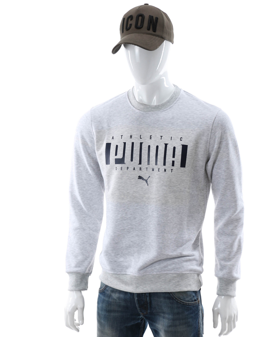 Свитшот мужской бел меланж PUMA ATHLETIC WTGRI XXL(Р) 20-406-001
