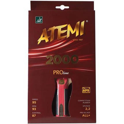 Ракетка для настольного тенниса ATEMI 2000 Pro сертифицирована ITTF, фото 2