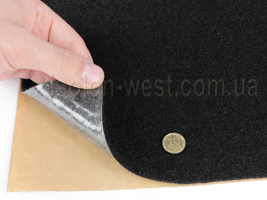 Карпет автомобільний Чорний самоклейка (лист 47х100 см), товщина 2.2 мм, щільність 300 г/м2