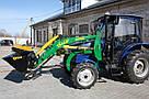 Погрузчик на трактор ДТЗ 5504 К (до 50 л.с.) -Деллиф Бейби 800 с джойстиком, фото 4