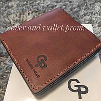 Шкіряний гаманець ручної роботи на магнітах з євро монетницею Grande Pelle