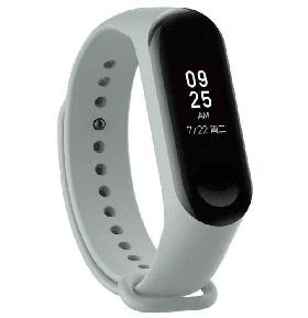 Ремешок на фитнес браслет Xiaomi Mi Band 3/4 M3/М4 Серый