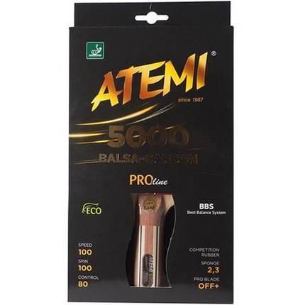 Ракетка для настольного тенниса ATEMI 5000 Pro сертифицирована ITTF, фото 2