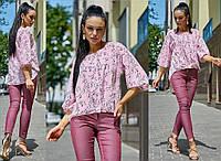 Женская легкая блуза из ткани софт           ST-1171-а, фото 1