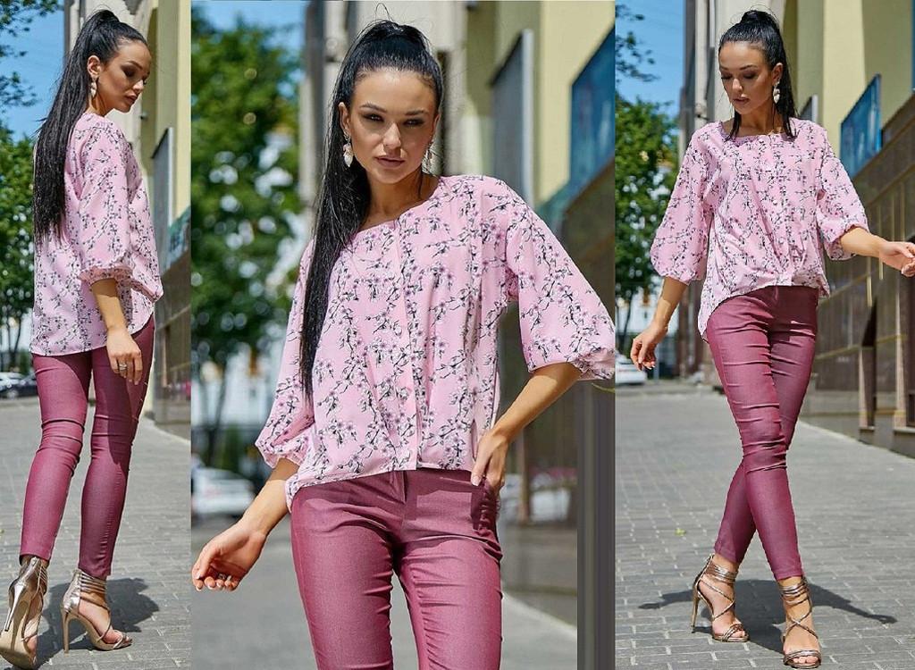 Женская легкая блуза из ткани софт           ST-1171-а
