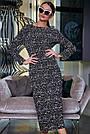 Чёрное шифоновое женское платье в горох, фото 3