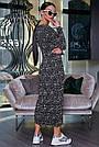 Чёрное шифоновое женское платье в горох, фото 5