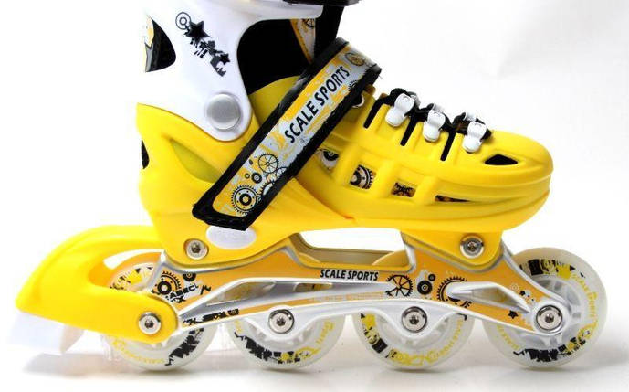 Ролики Scale Sports. Yellow, размер 34-37, фото 2