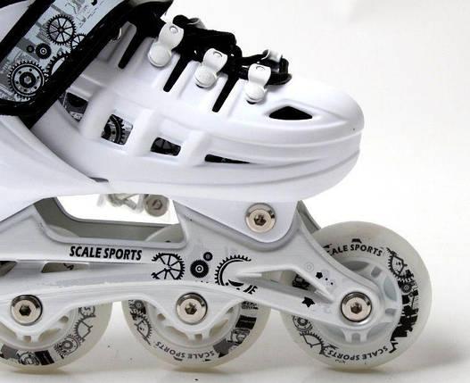 Ролики Scale Sports. White, размер 34-37, фото 2