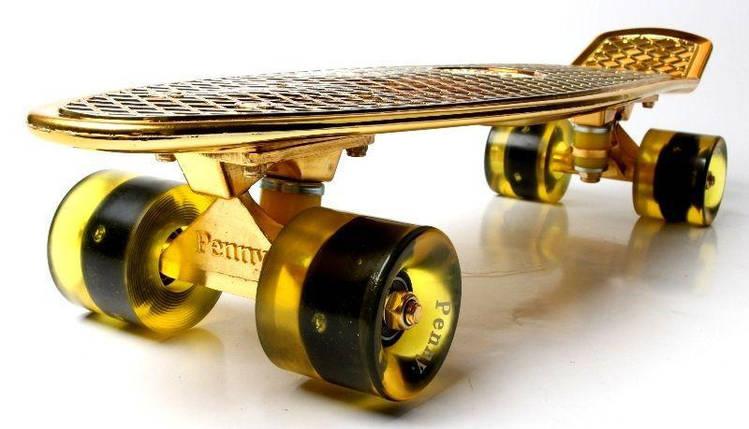 Penny Board. Gold. Светящиеся колеса!, фото 2