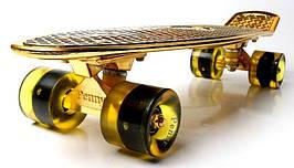 Penny Board. Gold. Светящиеся колеса!