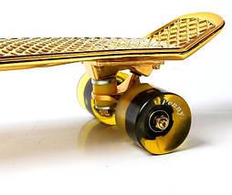 Penny Board. Gold. Светящиеся колеса!, фото 3