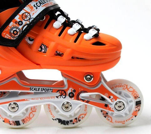 Ролики Scale Sports. Orange, размер 29-33., фото 2