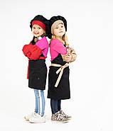 Комплект дитячий Latte Kids  5-7років | Фартух + Ковпак + Нарукавники, фото 4