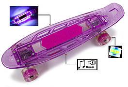 """Penny """"Fish Skateboard Original"""" Violet. Музыкальная и светящаяся дека!"""