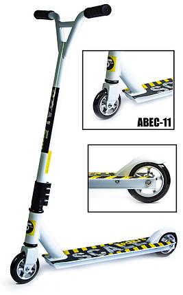 Трюковый самокат Scale Sports Extrem Abec-11 белый, фото 2