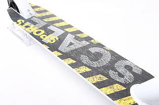 Трюковый самокат Scale Sports Extrem Abec-11 белый, фото 3