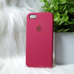 Чехол iPhone 5 5s SE бордовый