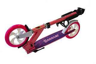 Самокат Scale Sports SS-05 розовый двухколесный , фото 2