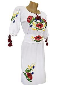 Сукня жіноча Вишиванка вишита з поясом р. 42 - 60