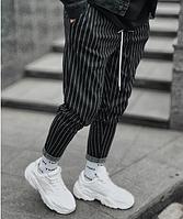 Брюки штаны мужские стильные в полоску на завязках свободные повседневные