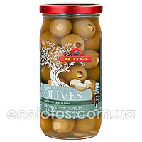 """Оливки зеленые с чесноком """"ILIDA"""" 350 г"""