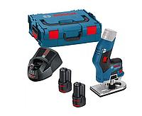 Аккумуляторный фрезерный станок GKF 12V-8 BOSCH 2x3,0Ah L-BOXX