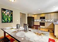 Наклейка на стол Zatarga Орхидея и капли росы 02 650х1200мм для домов, квартир, столов, кофейн, кафе