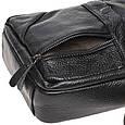 Мужская кожаная сумка через плечо Borsa Leather K11027-black, фото 4