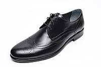 Мужские классические кожаные туфли TarOl 414-1ШК, натуральная кожа / Чоловічі шкіряні туфлі