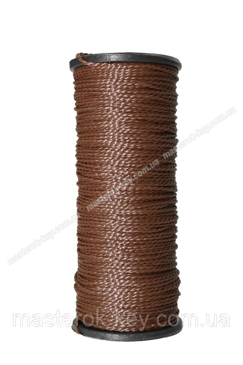 Нить капроновая обувная Текс №375 30м цвет коричневый