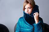 Курточка, цвет морская волна, эко мех мутон, подкладка микрофлис, Моне, р.140,152,164, фото 6
