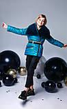Курточка, цвет морская волна, эко мех мутон, подкладка микрофлис, Моне, р.140,152,164, фото 5