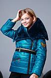 Курточка, цвет морская волна, эко мех мутон, подкладка микрофлис, Моне, р.140,152,164, фото 2
