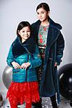 Курточка, цвет морская волна, эко мех мутон, подкладка микрофлис, Моне, р.140,152,164, фото 4