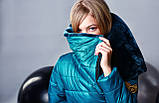 Курточка, цвет морская волна, эко мех мутон, подкладка микрофлис, Моне, р.140,152,164, фото 7