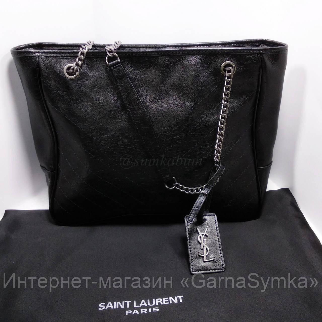 Очень удобная и вместительная сумка из натуральной кожи