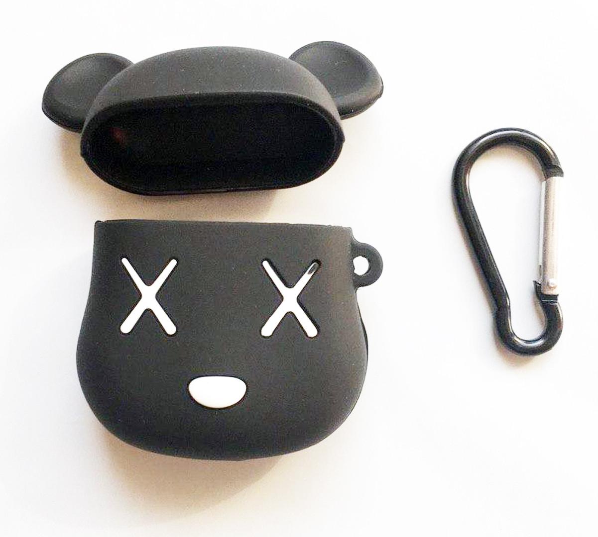 Силиконовый чехол для наушников AirPods Emoji Deadmouse Черный