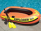 Трехместная надувная лодка Intex Explorer 300 Set с веслами и насосом 58332, фото 2