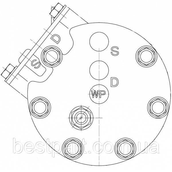 Кришка компресора задня Sanden SD7H15 JSB