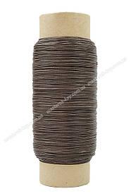 Нить обувная вощеная 375т, цвет коричневый