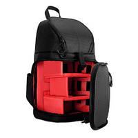 Фоторюкзак-слинг универсальный DSLR + дождевик, черный с красным ( код: IBF039BR )