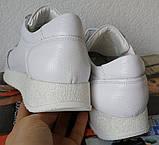 White star! Кроссовки белые женские высокая подошва из натуральной кожи., фото 5