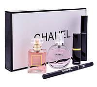 Подарочный набор парфюмерии Chanel 5 в 1, набор духов Шанель, набор косметики Шанель  France, фото 1