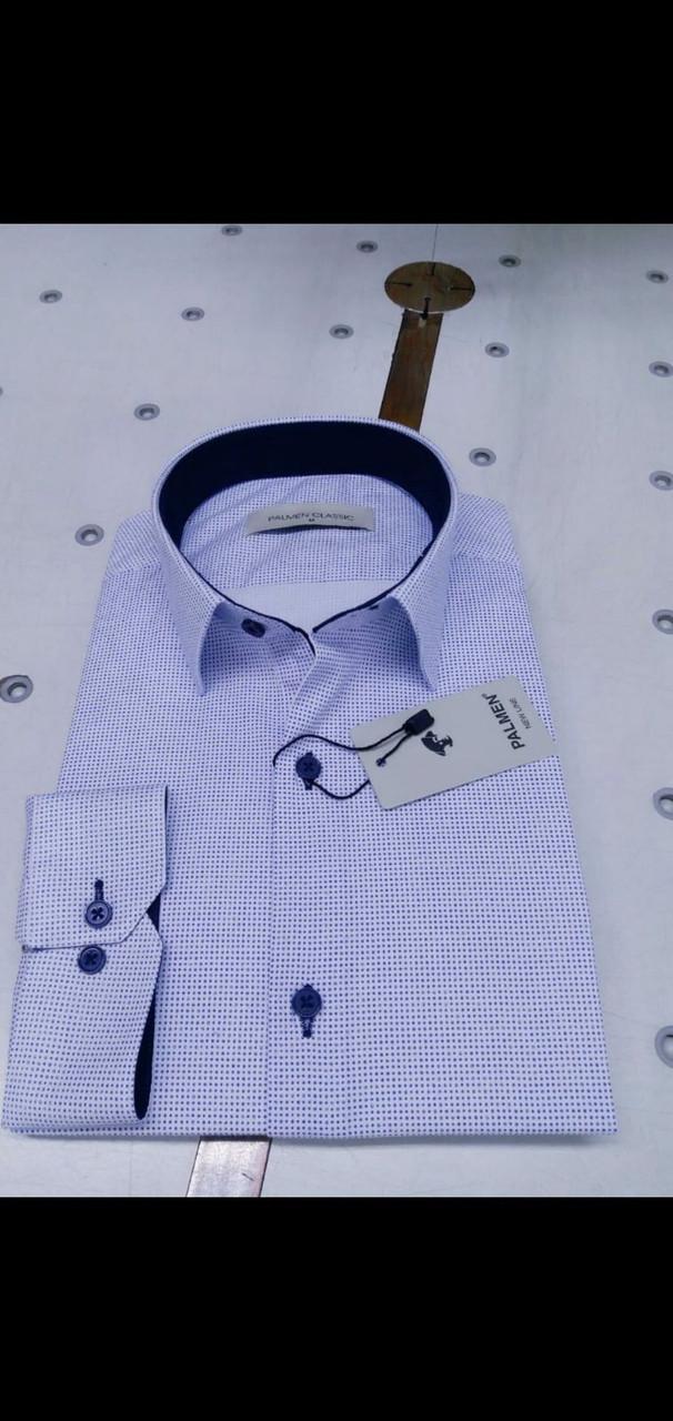 Мужская рубашка стрейч-коттон Palmen с принтом