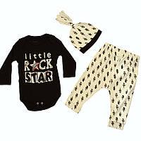 Детский комплект для девочки Одежда для девочек 0-2 Miniworld Турция 14485 Черный