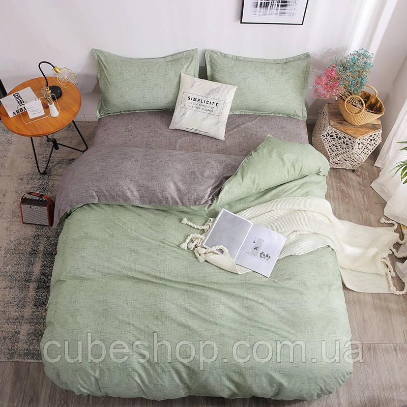 """Комплект постельного белья """"Зеленая волна"""" (двуспальный-евро)"""