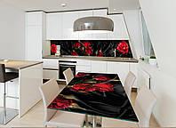 Наклейка на стол Zatarga Роза Tassin 02 650х1200мм для домов, квартир, столов, кофейн, кафе